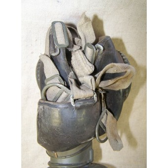 WW2 period German Wehrmacht or Waffen SS gasmask with canister. Espenlaub militaria