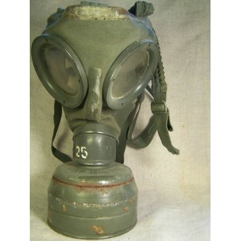 Early 1st model gasmask with canister. Espenlaub militaria