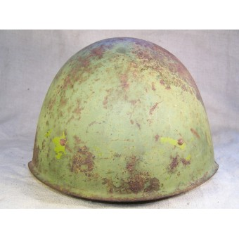 WW2 SSch- 40 helmet, attic found, uncleaned. Espenlaub militaria