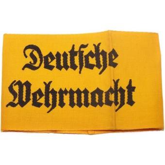"""Cuffband """" Deutsche Wehrmacht"""" in the mint condition. Espenlaub militaria"""