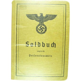 Solbuch issued at the end of the war: 27 March of 1945. Espenlaub militaria