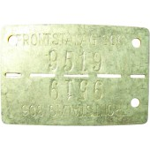Unissued Frontstalag 306 ID tags