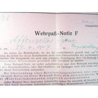 Wehrpass and other docs.. Espenlaub militaria