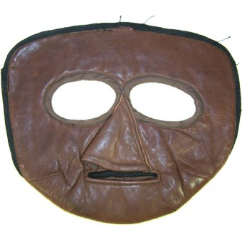 WW2 Soviet flyers protective leather face mask marked 194?. Espenlaub militaria