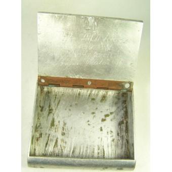 WW2 Russian hand made aluminum cigarette case, 1943-48 dated! Trench art!!!. Espenlaub militaria