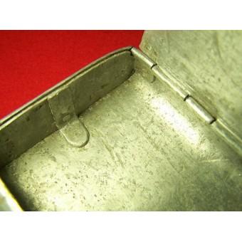 WW2 Russian hand made aluminum cigarette case, 1945 dated! Trench art!!!. Espenlaub militaria