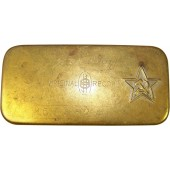 WW2 period made metal box with RKKA red star