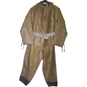 Red Army WW2 era chemical defense rubberized overall-OZK