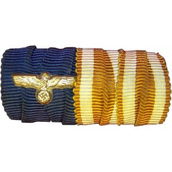 ribbon bar: military Longservice meadl and Westwall medal.. Espenlaub militaria