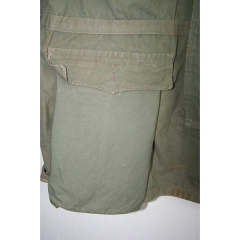 Gebirgsjager reversible green/white anorak, dated 1943. Espenlaub militaria