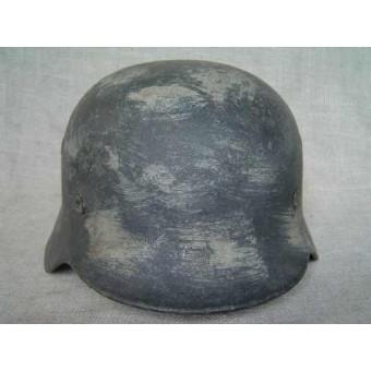 German M40 Winter camouflaged steel helmet. Espenlaub militaria