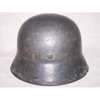 M35 single decal SS helmet, battlefield found in the swamp near Narva. Espenlaub militaria