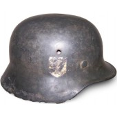 M35 single decal SS helmet, battlefield found in the swamp near Narva