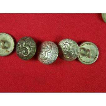 Aluminum buttons for shoulderstraps with numbers  2