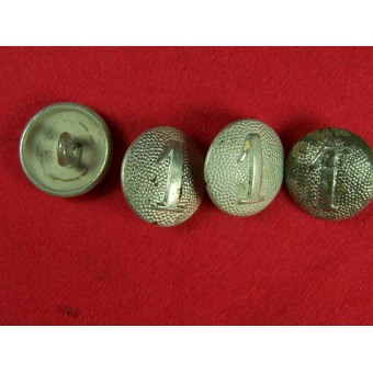 Aluminum buttons for shoulderstraps with numbers  2, 3