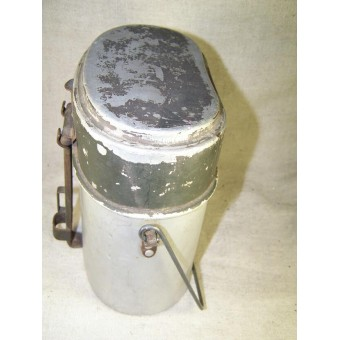 Early long type aluminum mess kit AWG 4 34 marked. Espenlaub militaria