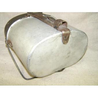 Early long type aluminum mess kit AWG 4 34 marked. Espenlaub militaria