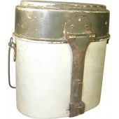 Early long type aluminum mess kit AWG 4 34 marked