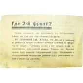 German propaganda leaflet from the February-June of 1944