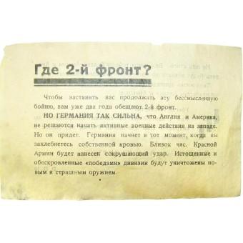 German propaganda leaflet from the February-June of 1944. Espenlaub militaria