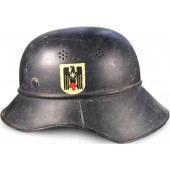 Third Reich Luftschutz for Roter Kreuz helper helmet