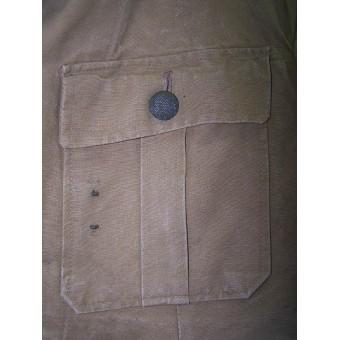 DAK Luftwaffe light canvas, combat worn jacket. Espenlaub militaria