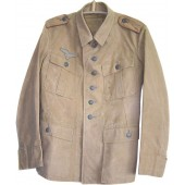 DAK Luftwaffe light canvas, combat worn jacket