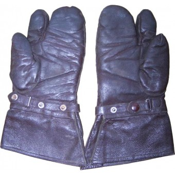 Luftwaffe or dispatch riders leather gloves.. Espenlaub militaria