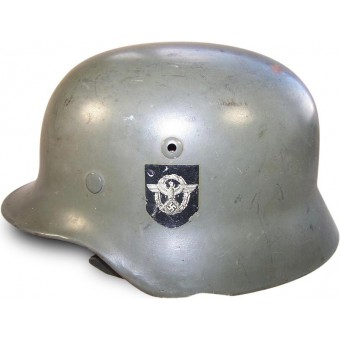Third Reich, M 35 single decal Polizei helmet Q 66. Espenlaub militaria