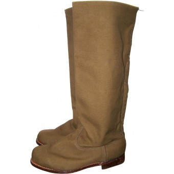 Minty canvas boots for cadets or hot climat areas. Espenlaub militaria
