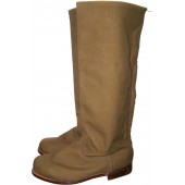 Minty canvas boots for cadets or hot climat areas