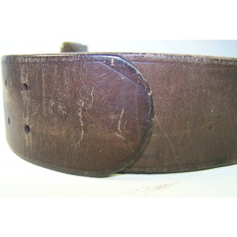 Soviet belt, with brass trench art buckle. Espenlaub militaria