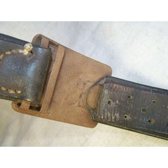 M 43 Railway /VOSO troops, steel buckle with German leather belt. Espenlaub militaria