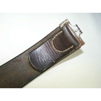 Overhoff SS buckle with the leather belt made by K Barta in Prag. Espenlaub militaria