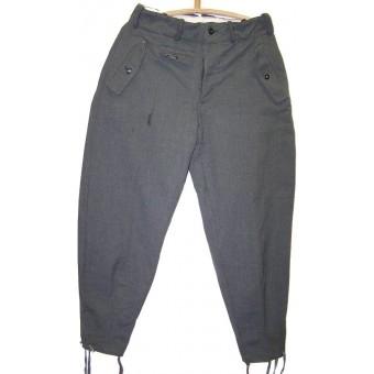 SS M43 trousers Betr Ra (Betrieb Ravensbrueck) Italian gabardine cloth made Kielhose.. Espenlaub militaria