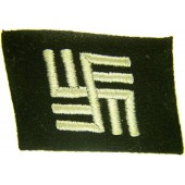 Temporary concentration camp guard collar tab