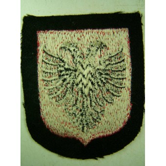 Un-issued Dachau made sleeve shield for Albanian SS volunteers