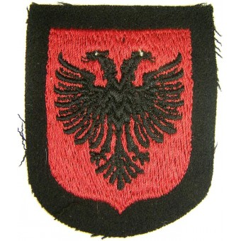 Un-issued Dachau made sleeve shield for Albanian SS volunteers. Espenlaub militaria
