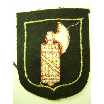 Un-issued Dachau made sleeve shield for Italian SS volunteers.. Espenlaub militaria