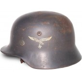 M 35 NS 64 Luftwaffe double decal steel helmet