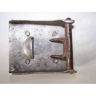 Heeres early, two parts construction alu buckle. Espenlaub militaria