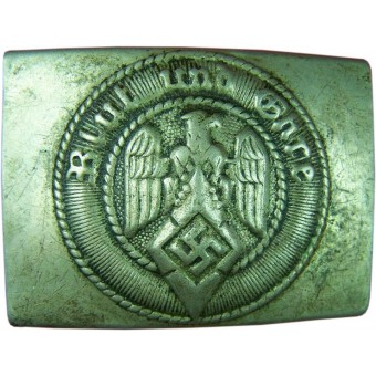 HJ nickel belt buckle with markings RZM 36. Espenlaub militaria