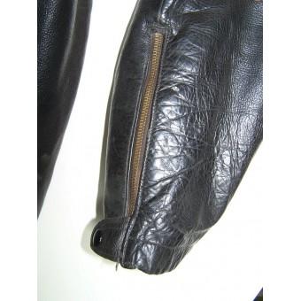 WW2 German Kriegsmarine leather protective suit for Flak and other ship guns gunners. Espenlaub militaria