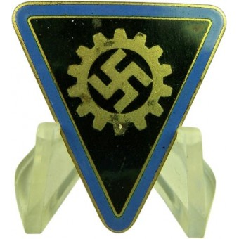 DAF Female leader enamel badge. Blue is for the Orts level staff