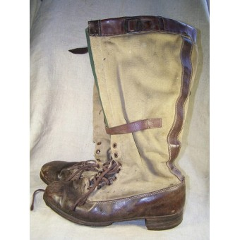 Extremely RARE pair of the DAK Luftwaffe tropical boots. Espenlaub militaria