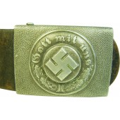 Combat police belt and buckle.