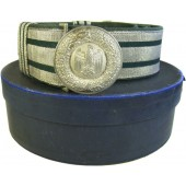 Heeres officers brocade belt with aluminum buckle and storage box.