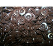 Brown plastic buttons 17-18 mm