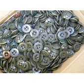 Khaki green plastic buttons 14 mm