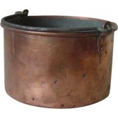 WW1 Imperial Russian red cooper mess pot